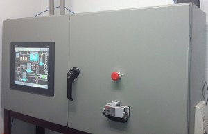 ProChem, Inc. HMI in PLC cabinet for the automation control system with web-based remote monitoring