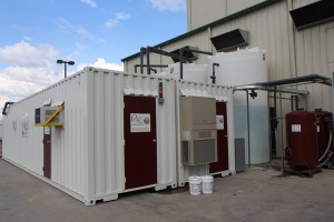 ProChem, Inc. industrial wastewater reuse system in conex containers